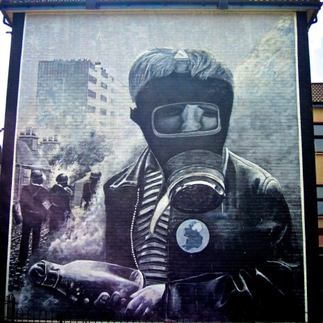 Mural depicting Bloody Sunday