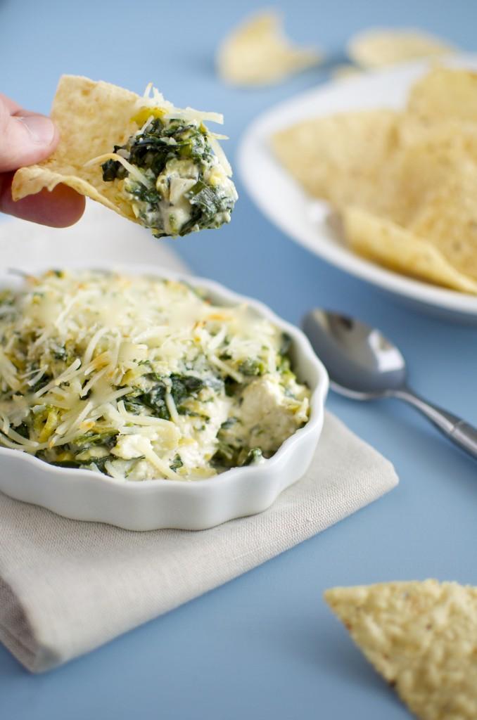 easy spinach artichoke dip