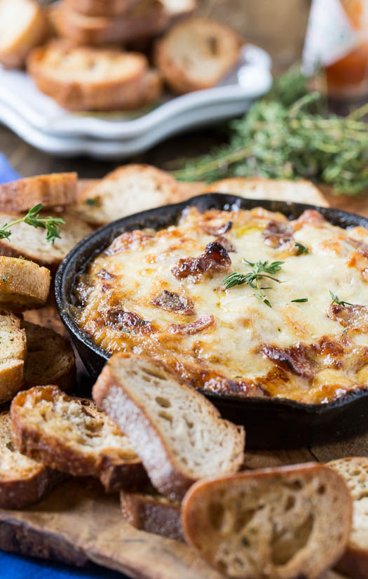 Hot Caramelized Onion Dip with Bacon and Gruyere by Spicy Southern ...