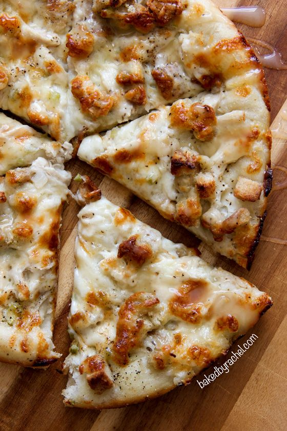 10. Leftover Thanksgiving Turkey Pizza by Baked by Rachel